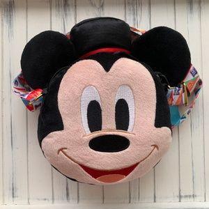 Handbags - Disney Mickey Minnie Reversible Plush Bag HK NWT